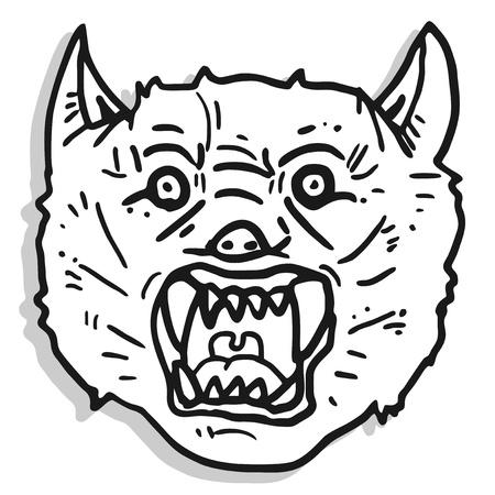 Hazard wolf draw Stock Vector - 17096667