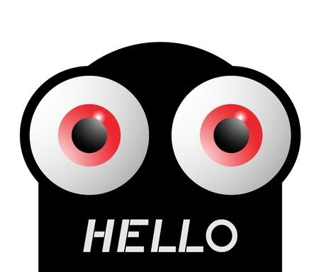 Hello puppet Stock Vector - 17096631