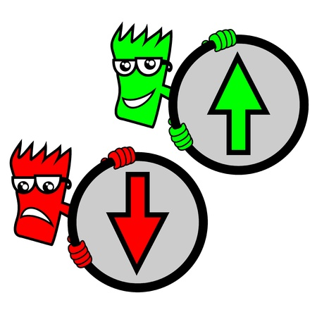 Up and down signs Vector