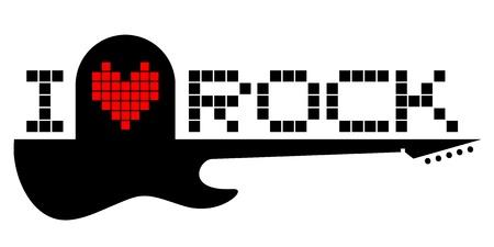 I love rock Stock Vector - 17265143