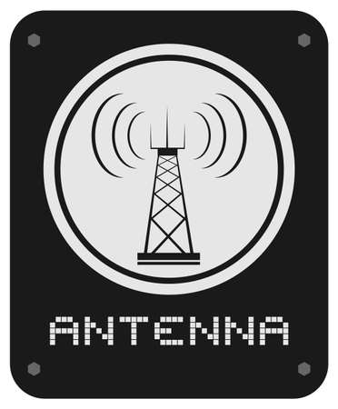 Antenna sign Stock Vector - 17265148