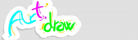 Art draw color card Vector