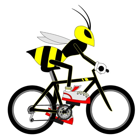 Wasp bike Vector
