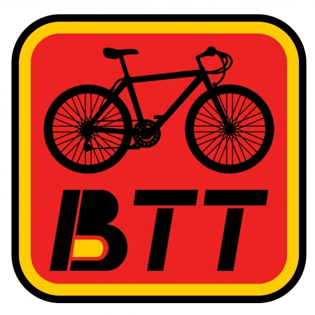 BTT bike symbol Vector