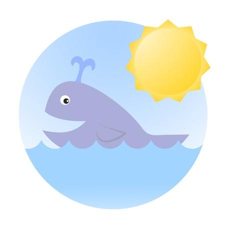 Ocean marine sun Stock Vector - 17265153