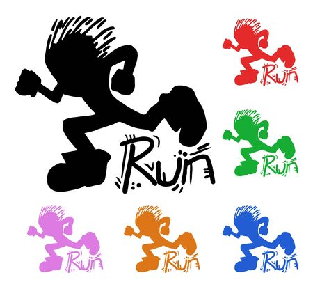 Run color kids Stock Vector - 17265245
