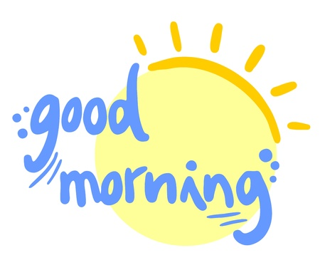 좋은 아침의 태양