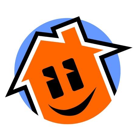 Smile house icon Stock Vector - 17216092