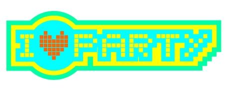 I love party symbol Stock Vector - 17216096