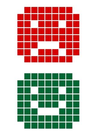 Pixel faces Stock Vector - 17197698