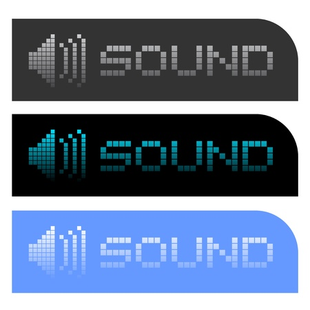 Sound buttons Stock Vector - 17197705