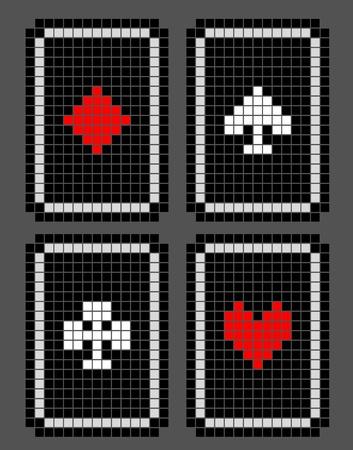 Pixel poker draw Stock Vector - 17346142