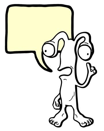 talkative: Alien cartoon comic