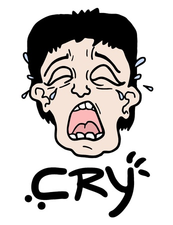 Cry face Stock Vector - 17346147