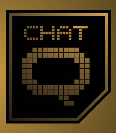 Golden chat Stock Vector - 17346086