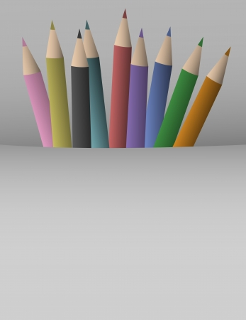 waxes: Color pencil background Illustration