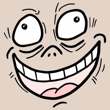 wrinkled face: Joke crazy mask
