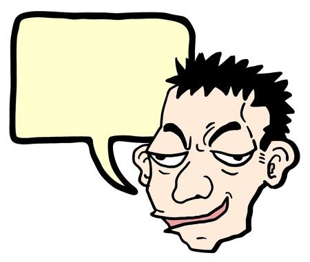 Cartoon expression man Vektoros illusztráció