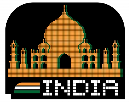 India pixel art icon Vector