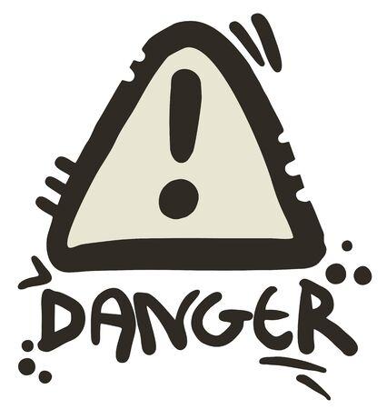 Danger icon Stock Vector - 17345969