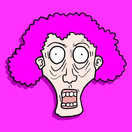 Crazy face Illustration