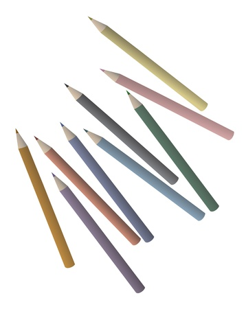 Creative color pencils Stock Vector - 17345994