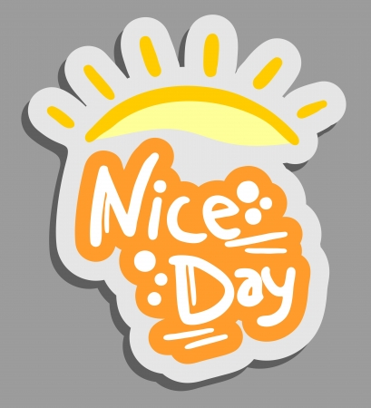 good luck: Nice day Illustration