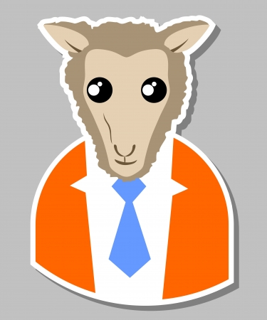 Funny elegant sheep Stock Vector - 17311885