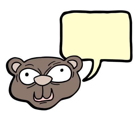 Bear face talking Illustration