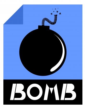 Bomb letter Stock Vector - 17509395