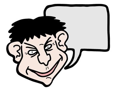 Funny face talking