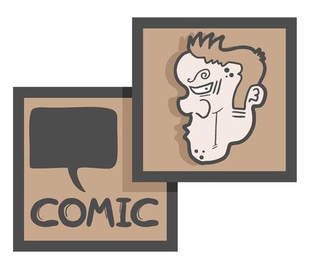 Creative comic simbol Stock Vector - 17509493