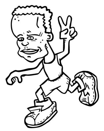 Winner runner Stock Vector - 17509519