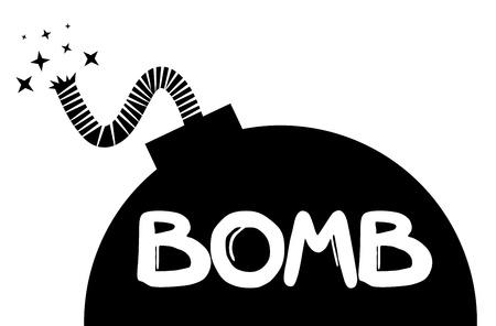 detonating: Bomb symbol