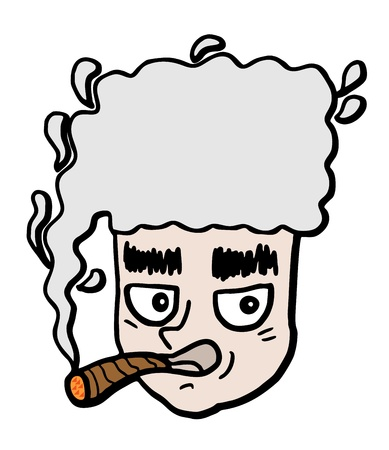 Creative comic smoke Vector