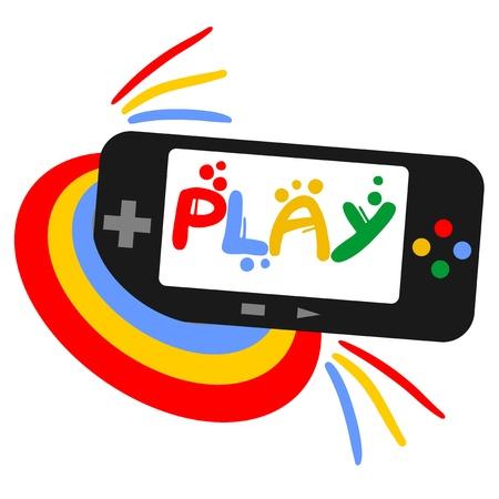 Color play icon Stock Vector - 17509517