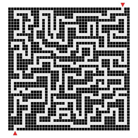Labyrinth pixel composition Vector