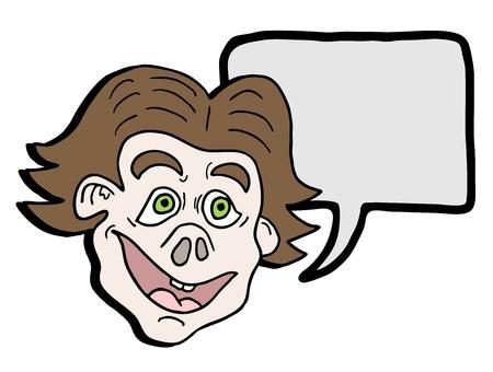 Comic face Illustration