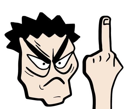 insulto: Insultar a dibujar Vectores
