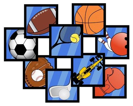 Sport symbols Stock Vector - 17509514