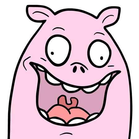 Pig draw Stock Vector - 17509426