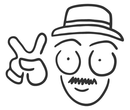 expressive style: Funny win man draw