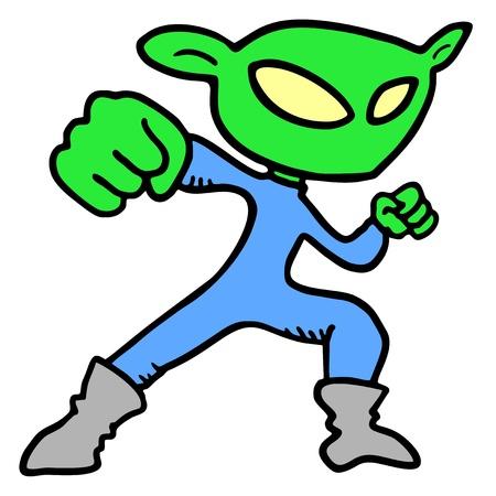 Alien draw Stock Vector - 17618786