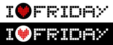 I love friday Stock Vector - 17618798