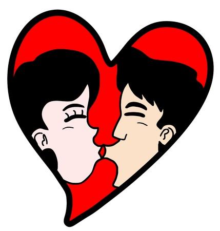 Draw love Stock Vector - 17618851