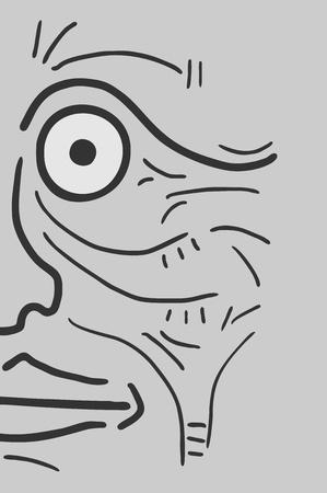 Creative face Stock Vector - 17618559