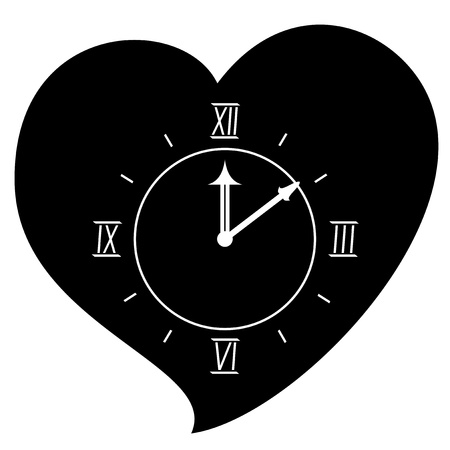Love clock Vector