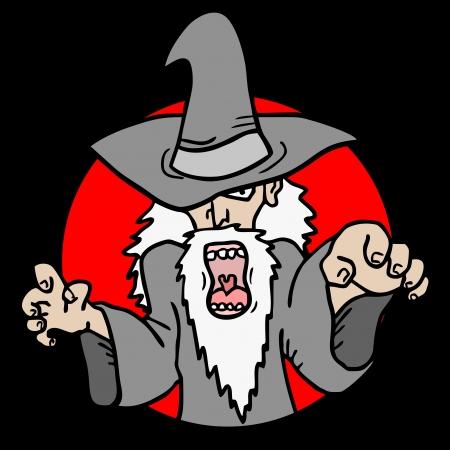 Magician attack Stock Vector - 17618859