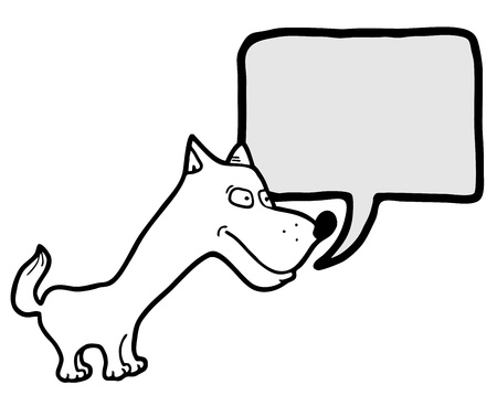 narration: Small dog Illustration