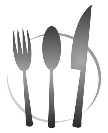 cuchillo de cocina: Cocinero icono Vectores